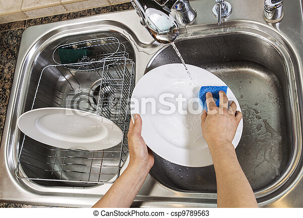 Washing Dishes - csp9789563