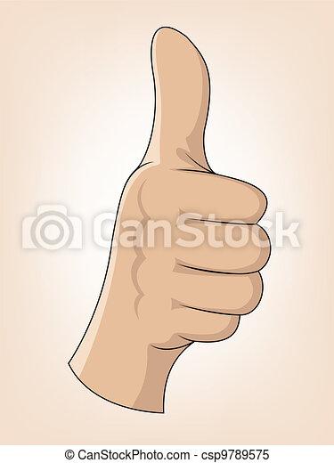 Thumb Up Gesture  - csp9789575
