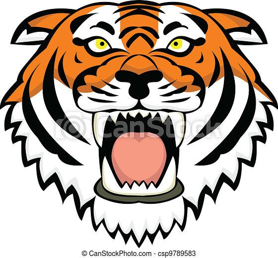 Vectores de tigre, tatuaje - vector, Ilustración, de, tigre ...