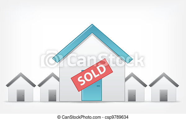 Sold Home. Vector EPS 10. - csp9789634