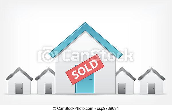 Sold Home. Vector EPS 10. - csp9789634