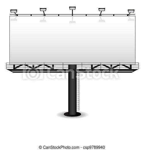 Clipart vecteur de panneau affichage ext rieur publicit for Panneau publicitaire exterieur prix
