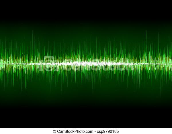 Sharp cool green waveform. EPS 8 - csp9790185