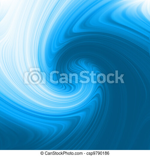 Abstract glow Twist with blue flow. EPS 8 - csp9790186
