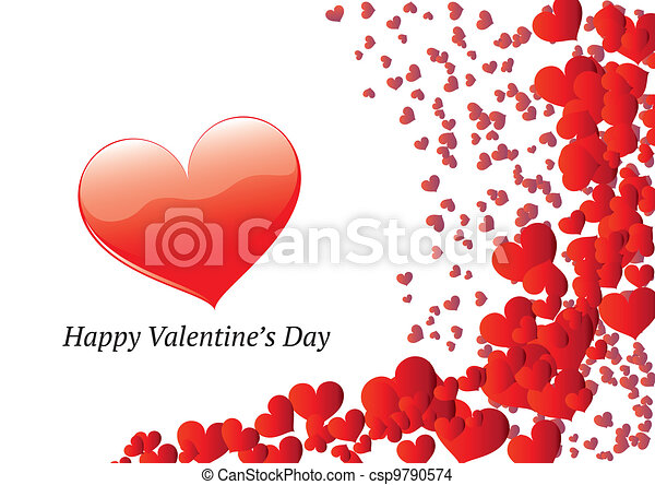 Valentine's day greeting card - csp9790574