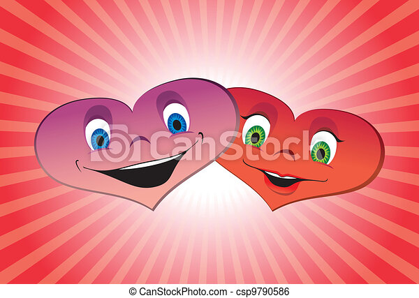 Couple of loving hearts - csp9790586