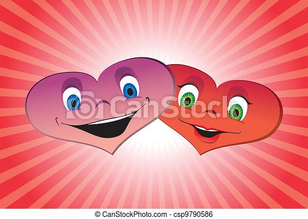 Couple of loving hearts - csp9790586