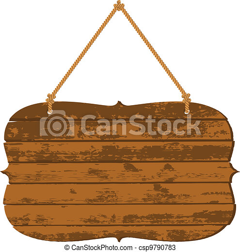 Retro wooden signboard - csp9790783
