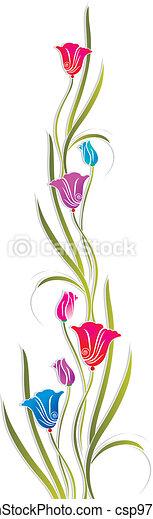 Fancy tulip flower - csp9791736