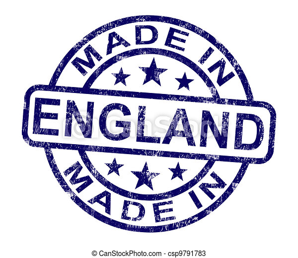 Made In England Stamp Shows English Product Or Produce - csp9791783