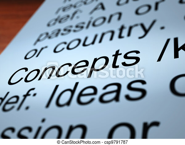 Concepts Definition Closeup Showing Ideas Or Invention - csp9791787