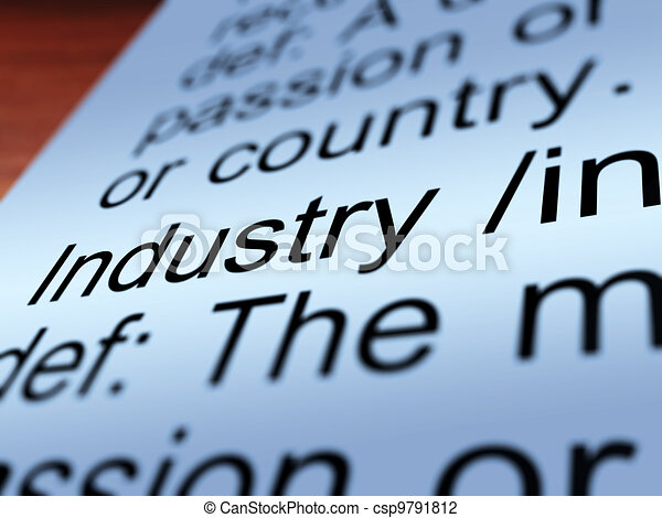 Industry Definition Closeup Showing Engineering - csp9791812
