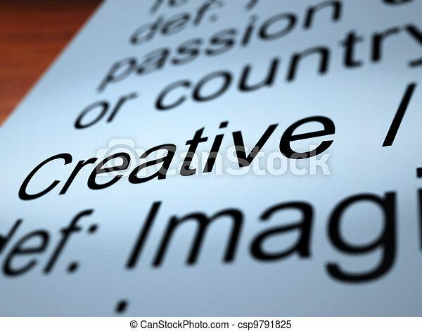 Creative Definition Closeup Showing Original Ideas - csp9791825