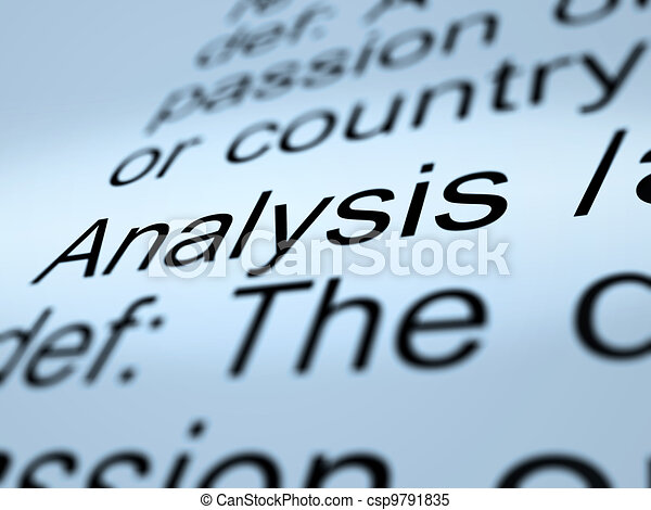 Analysis Definition Closeup Showing Probing Study Or Examining - csp9791835