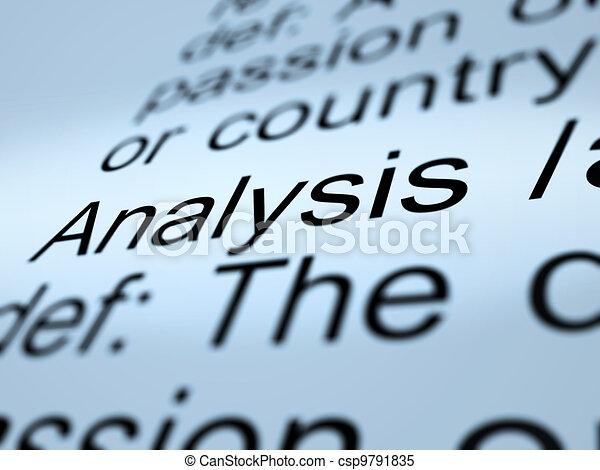 Analysis Definition Closeup Showing Probing Study Or Examining - csp9791835