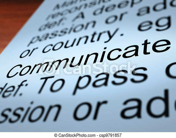 Communicate Definition Closeup Showing Dialog - csp9791857