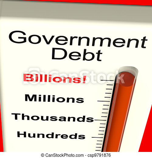 Government Debt Meter Showing Nation Owing Billions - csp9791876