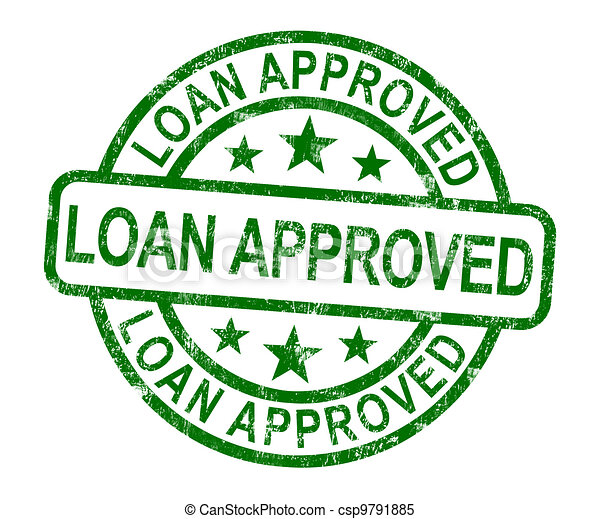 Loan Approved Stamp Shows Credit Agreement Ok - csp9791885