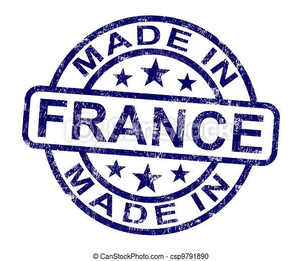 Made In France Stamp Shows French Product Or Produce - csp9791890
