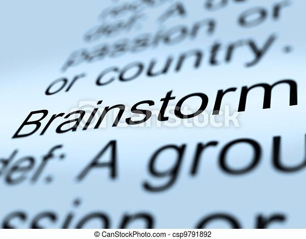 Brainstorm Definition Closeup Showing Research Thoughts - csp9791892