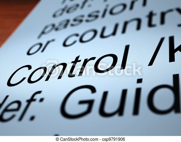 Control Definition Closeup Showing Remote Operation - csp9791906