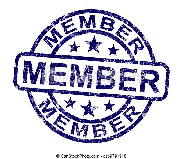 Member Stamp Shows Membership Registration And Subscribing - csp9791918