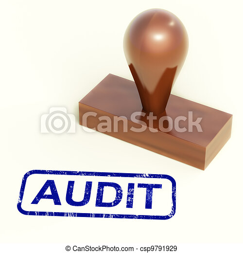Audit Rubber Stamp Shows Financial Accounting Examination - csp9791929