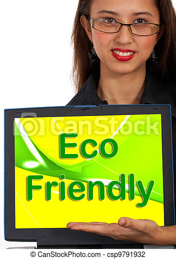Eco Friendly Computer Message As Symbol For Recycling - csp9791932