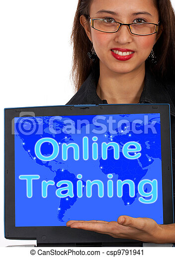Online Training Computer Message Showing Web Learning - csp9791941