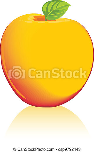 Yellow apple isolated on the white - csp9792443