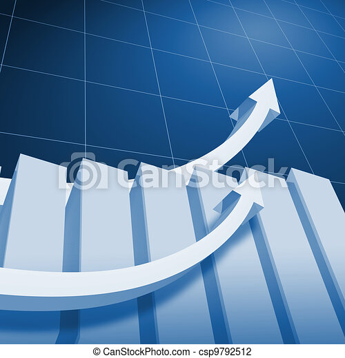 Charts and upward directed arrows - csp9792512