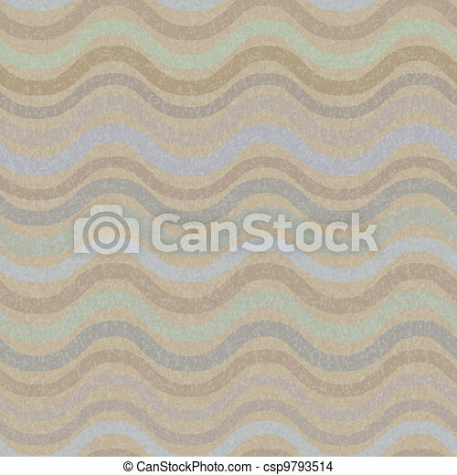 Retro seamless wave pattern - csp9793514