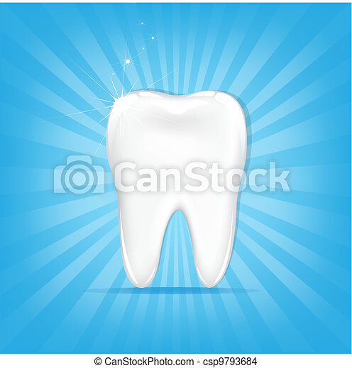 Tooth With Sunburst - csp9793684