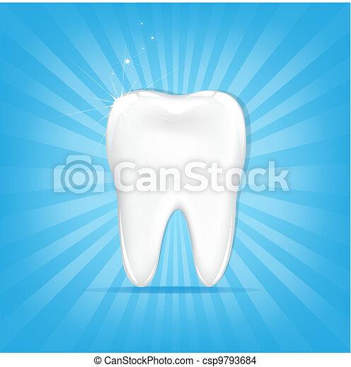 Tooth With Sunburst - csp9793684