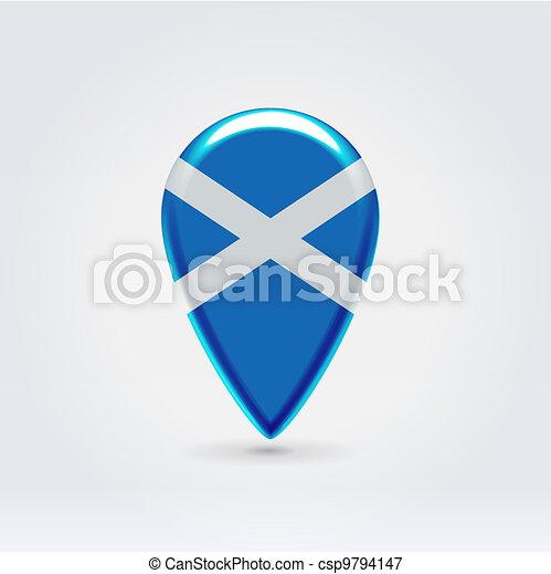 Geo location national point label - csp9794147