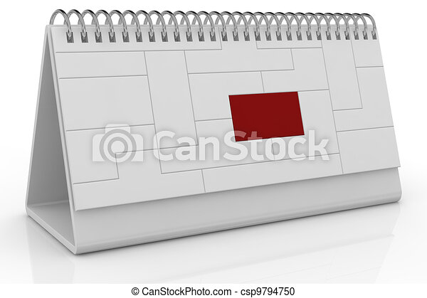 desk calendar and deadline - csp9794750