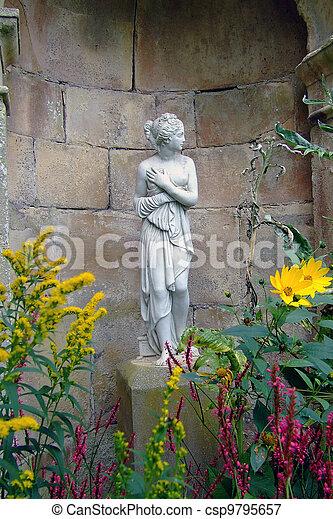 Picture Of Statue In Garden Alcove Statue In Garden At Dewston Csp9795657 Search Stock