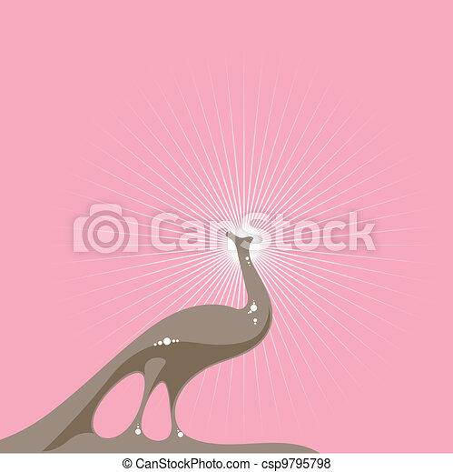 Elegant Peacock - csp9795798