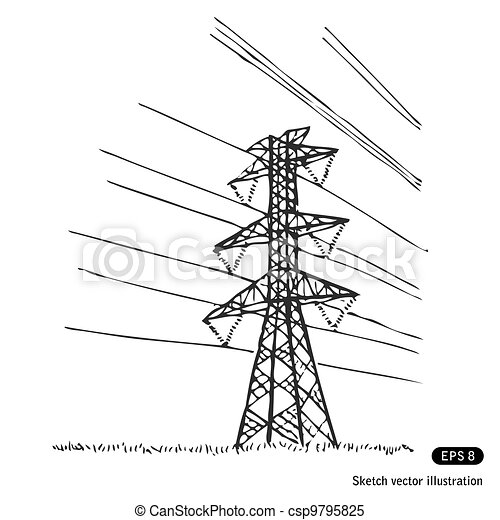 Power lines - csp9795825