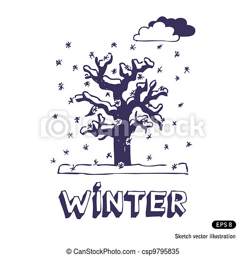 Winter tree - csp9795835
