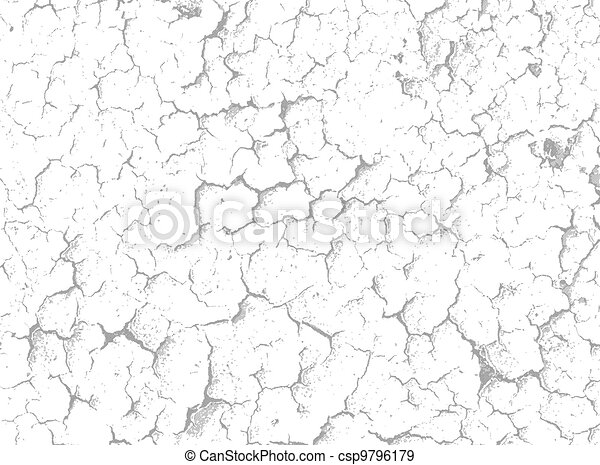Cracks on white surface - vector background - csp9796179