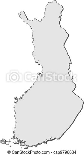 Map of Finland - csp9796634
