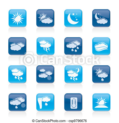 Weather and meteorology icons - csp9796676