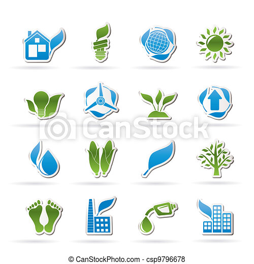 environment and nature icons - csp9796678