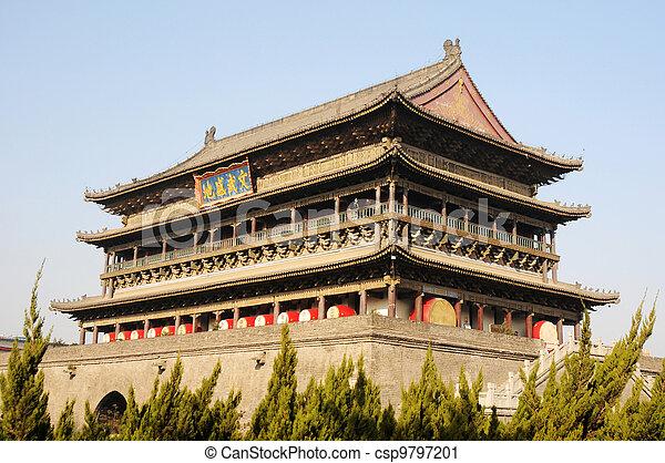 Drum Tower of Xian China - csp9797201
