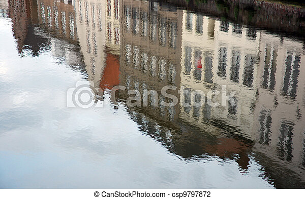 Reflection of Bruges (Belgium) - csp9797872