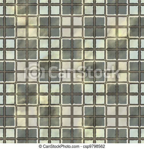 Ancient mosaic floor. Seamless texture. - csp9798562