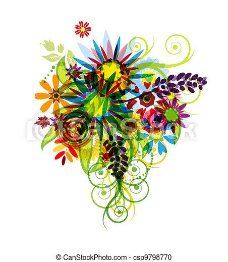 Floral bouquet for your design - csp9798770