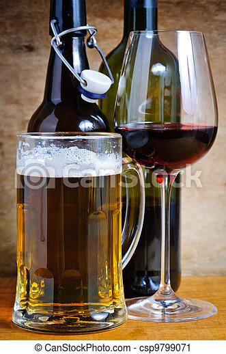 Beer and wine drinks - csp9799071