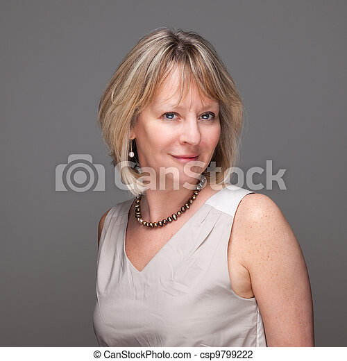 Attractive Smiling Mature Woman - csp9799222